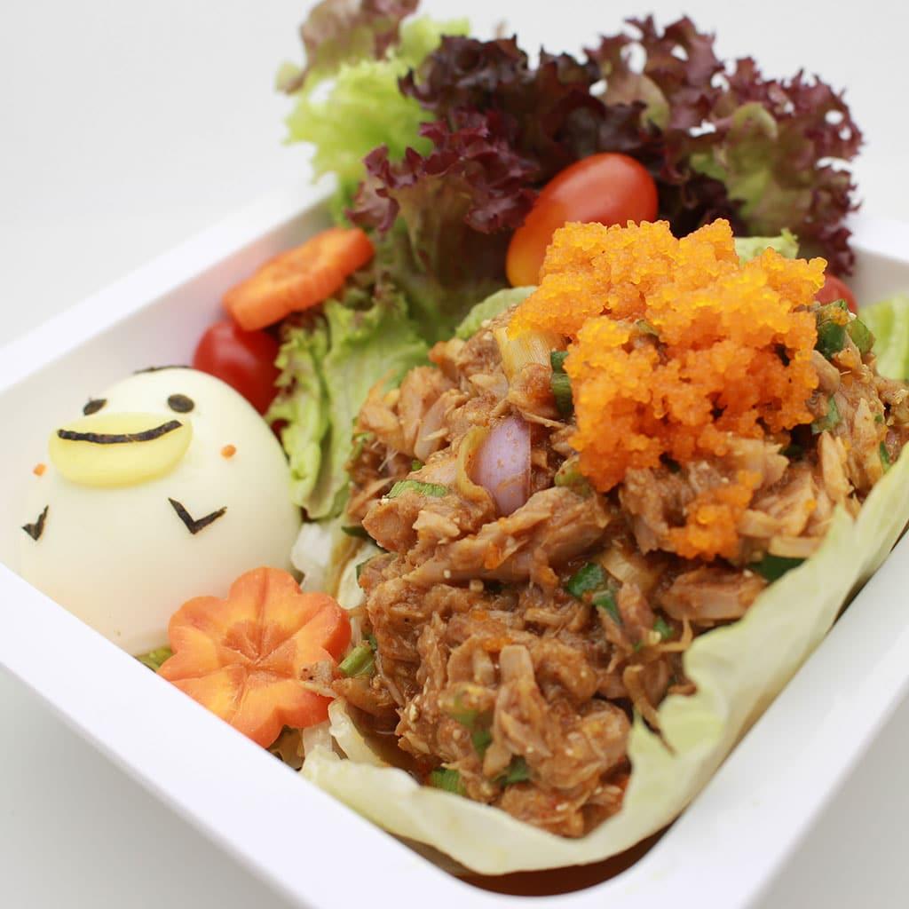 วิธีทำลาบทูน่าไข่กุ้ง Tuna & Ebiko salad เมนูสุดแซ่บจี๊ดจ๊าด