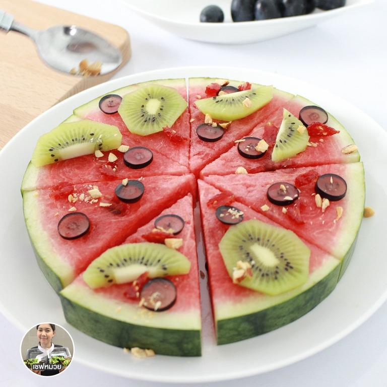 สลัดผลไม้ พิซซ่า(Pizza salad)