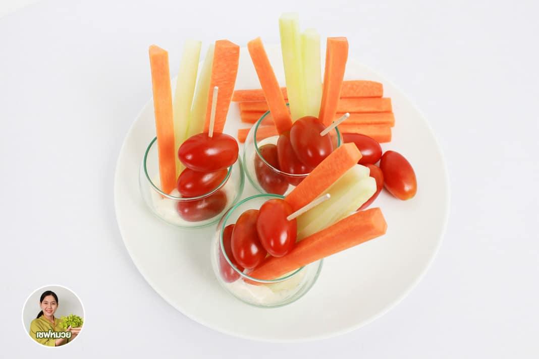 สลัดทานเล่น (snack) ขนมยามว่างที่มีประโยชน์