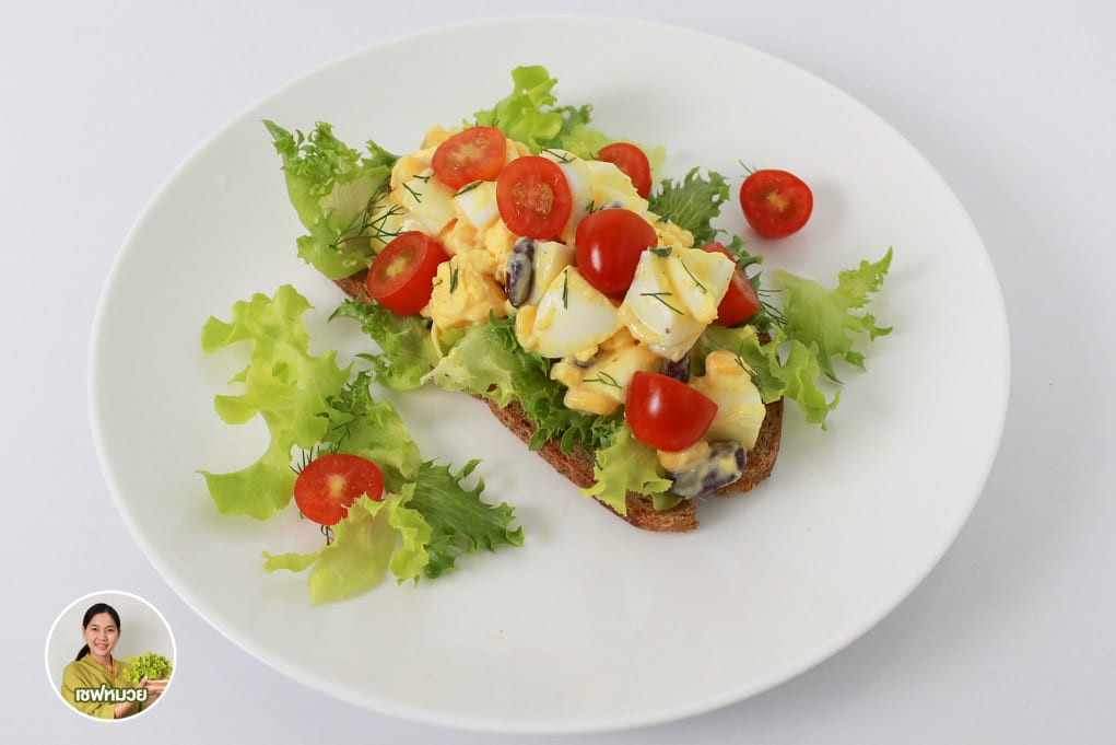 สลัดไข่ต้ม (Boiled egg salad) ของดีโปรตีนชั้นยอด